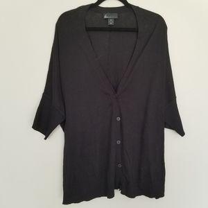Lane Bryant black short sleeve cotton cardigan 18